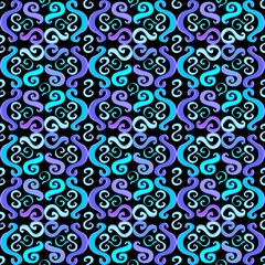 Illustration lilac pattern on a black background