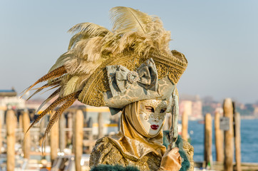 Woman in Traditional Costume at the Carnival of Venice