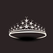 Beautiful tiara in silver color. - 78156877