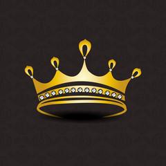 Beautiful golden crown.