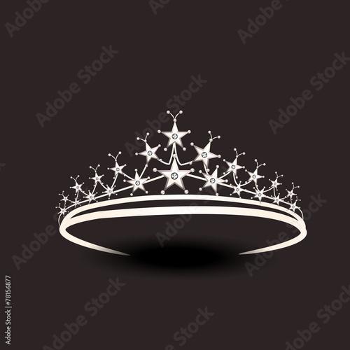 Beautiful tiara in silver color. - 78156877