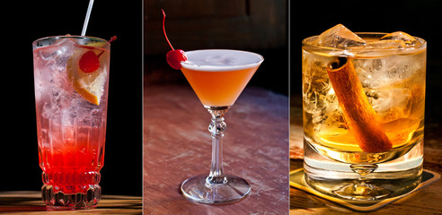 Beautiful classic cocktails