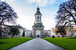 Leinwanddruck Bild - Bell Tower in Trinity College, Dublin Ireland