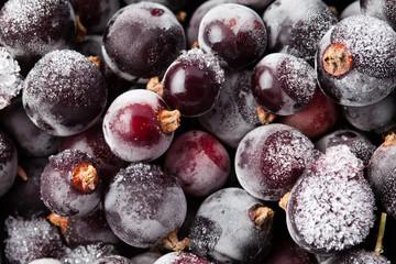 Frozen currant. blueberries. Closeup. Macro