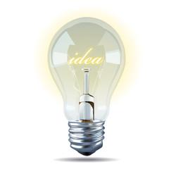 Vector of Bulb light idea on white background.