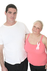 A great couple together to fight the breast cancer.