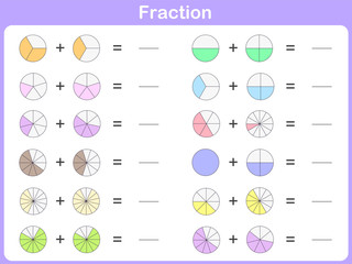 fraction for education -  worksheet