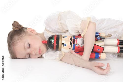 A Beauty Ballerina who holding a nutcracker - 78160230