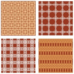 Set of background tiles with art deco style geometric patterns