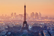 Aerial view of Paris at sunset - 78161226