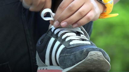 Tying Sneakers, Shoes