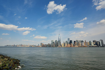 Manhattan NYC Skyline from across the Hudson River