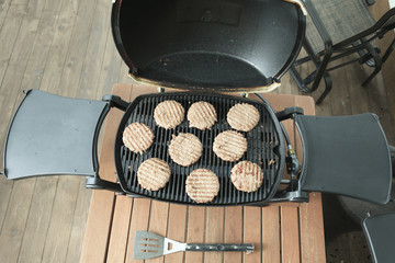 A BBQ with Hamburger meal