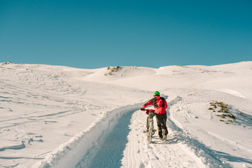 Young rider on the snow - Dolomiti Pale di San Martino