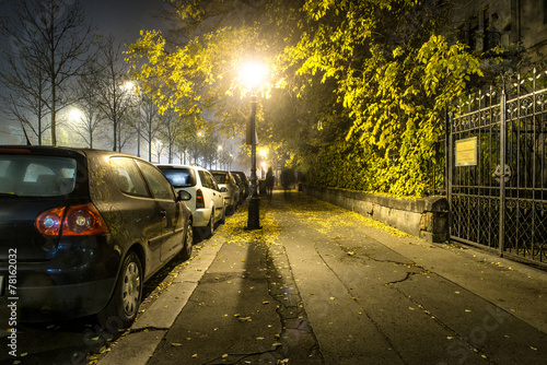 Sidewalk road at the night in dormitory in Budapest, Hungary - 78162032
