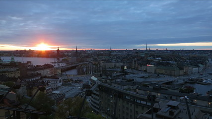Sweden Stockholm sunset time lapse