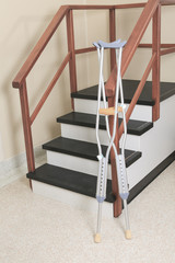 A physiotherapist room with staircase