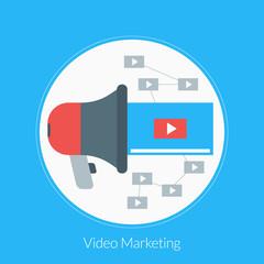 Flat design concept for Video Marketing