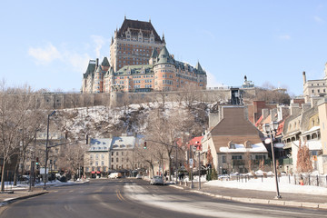 Chateau Frontenac in winter, Quebec City, Quebec, Canada