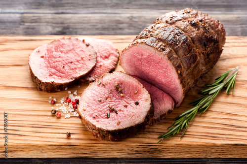 Foto op Canvas Vlees roast beef