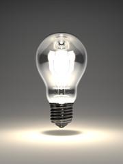 Electric Bulb On Black