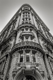 Fototapety New York building - Facade and architectural details - Black & W
