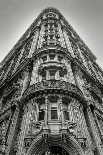 New York building - Facade and architectural details - Black & W