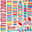 Mega collection of retro ribbons and labels - 78166206
