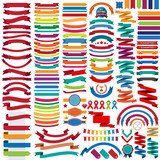 Fototapety Mega collection of retro ribbons and labels