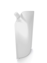 Blank spout pouch with cap or doy pack on a white