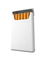 Pack of cigarettes on a white background