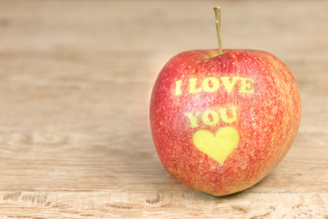 Apple with message