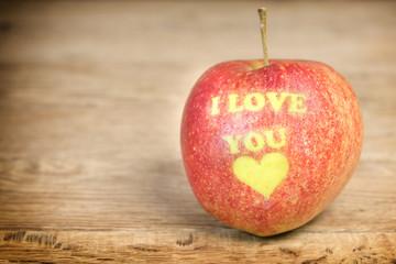 Apple of love (apple for lovers)
