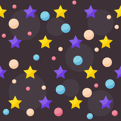 vector cosmic pattern background with funny drawing planets