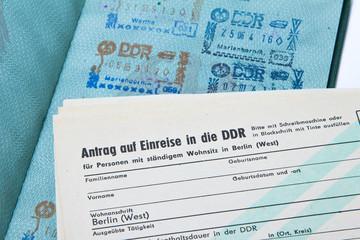 Antrag auf Einreise in die DDR