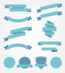 vector set of empty retro ribbons