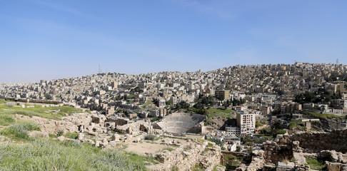 view of Amman's skyline, Jordan, Middle East
