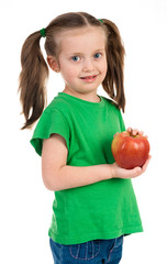 girl portrait with apple