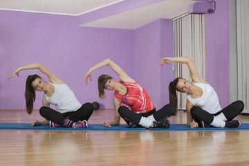 gropu woman in fitness sport