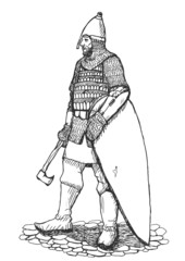 Russian warrior Vector Sketch