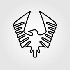 Eagle symbol - vector illustration