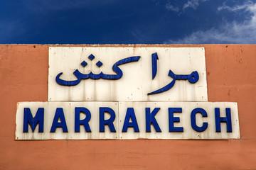 Marrakech sign