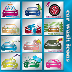 blink color car wash icons