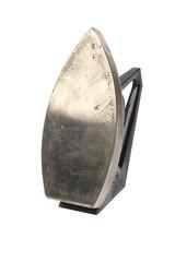 Old vintage iron isolated on white background