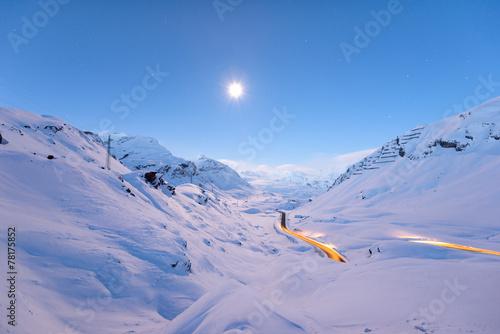 Leinwandbild Motiv Julierpass Graubünden