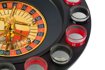 roulette casino game isolated white background