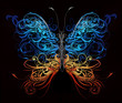 butterfly made of flourish abstract shapes