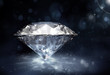 diamond on dark background - 78178082