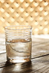 Glass of clean mineral water