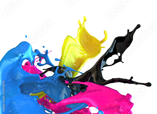 Canvas Vormen cmyk concept